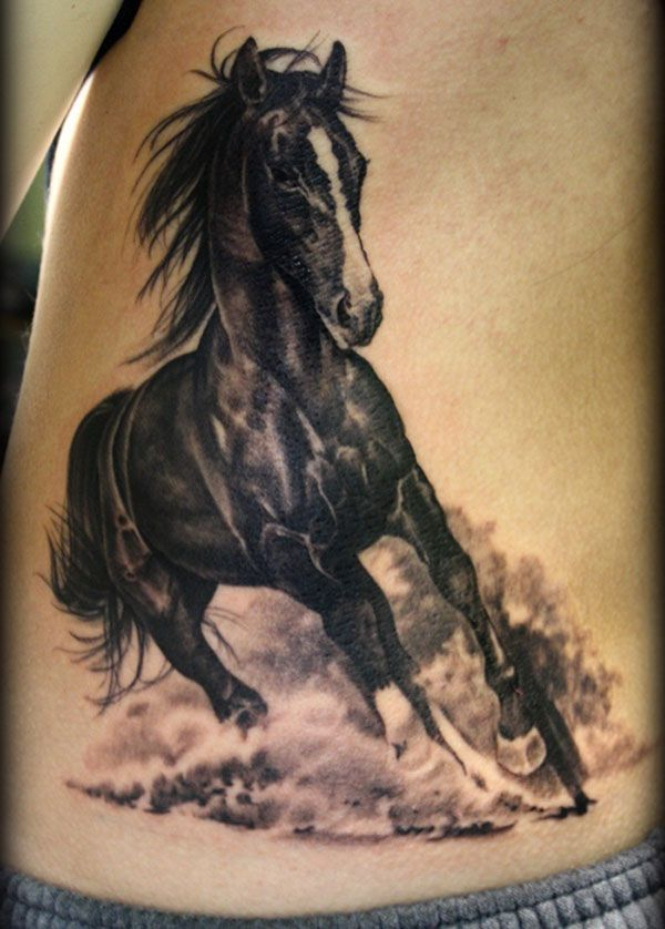 black-and-white-horse-tattoo